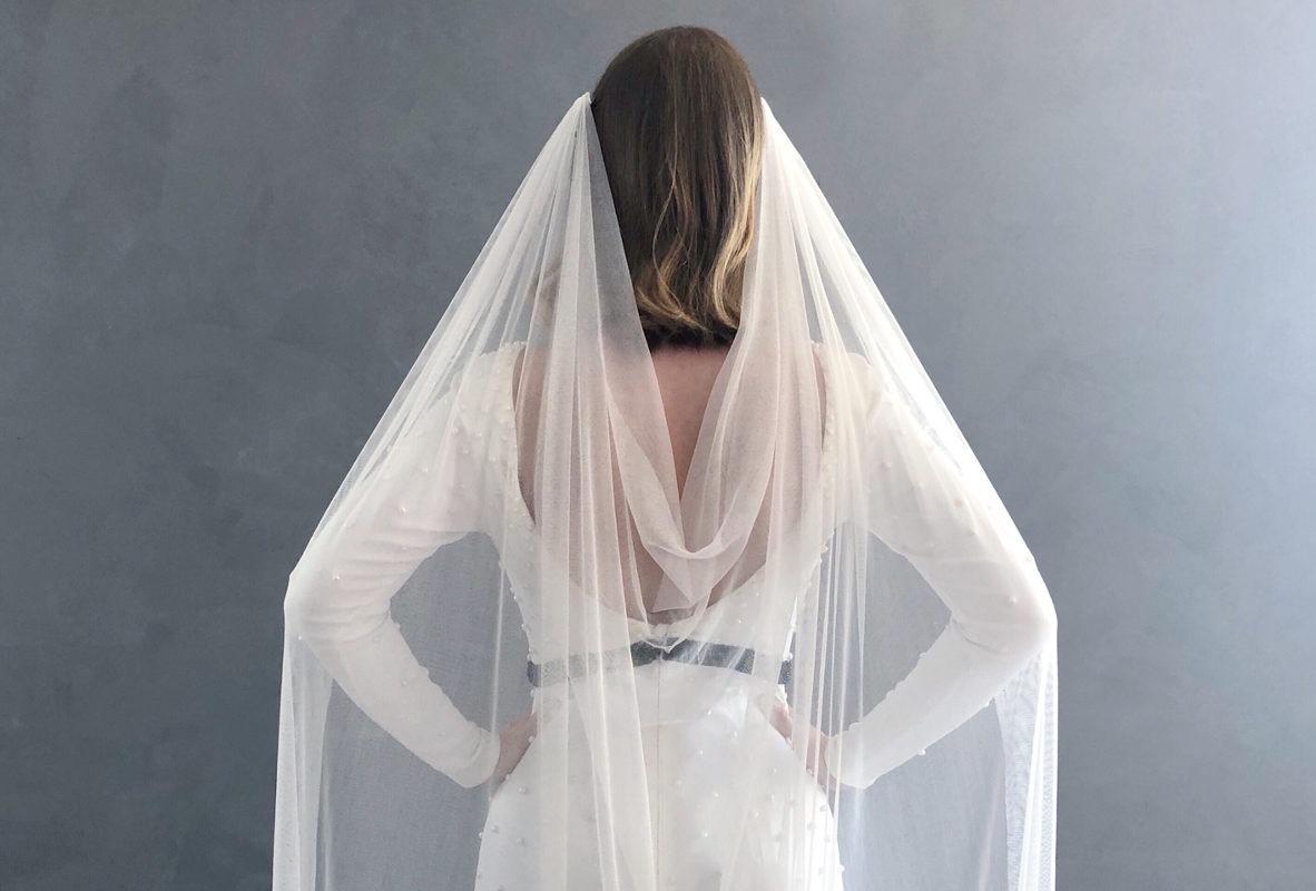slør drapperet med et smukkeste fald