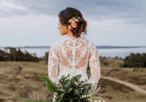 brudekjole trends 2021 blonder detaljer betrukne knapper