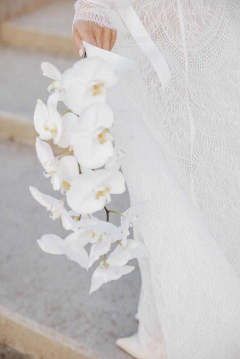 Smuk brudebuket fra bang og thy